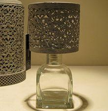 Theelichthouder Lamp Oriental Grijs J-line