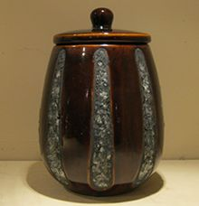 Pot Keramiek Met Motief In Glas Mozaiek